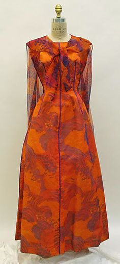 Dress, Evening  Madame Grès (Alix Barton)  (French, Paris 1903–1993 Var region)  Date: late 1950s Culture: French Medium: silk