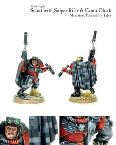 Blood Angels, Camouflage, Scouts, Snipers