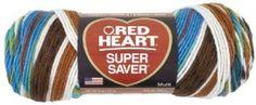 Red Heart Super Saver Peruvian, possible blanket. Crochet Knit