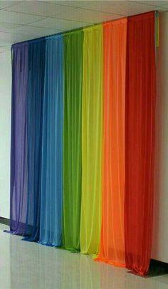 Rainbow of Window Panels Taste The Rainbow, Over The Rainbow, Rainbow Room, Rainbow Colors, World Of Color, Color Of Life, Rainbow Curtains, Rideaux Design, Rainbow Connection