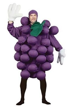UHC Mens Grapes Fruit Healthy Food Funny Theme Adult Halloween Costume -- This food costume is a recipe for winning your Halloween Costume Contest! #food #recipes #halloween #costume