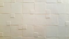 A tile layout to excite the senses. 3d Tiles, Tile Layout, Handmade Tiles, Sinks, Tile Floor, Room Ideas, Ceramics, Crafts, Ceramica