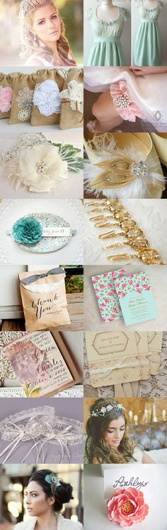 Vintage Inspired Wedding by blueorchidcreations on Etsy--Pinned with TreasuryPin.com
