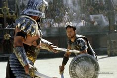 Gladiator - Publicity still of Russell Crowe Gladiator Games, Gladiator 2000, Gladiator Movie, Russell Crowe Gladiator, Djimon Hounsou, Joaquin Phoenix, Ancient Rome, Illustrations And Posters, Captain America