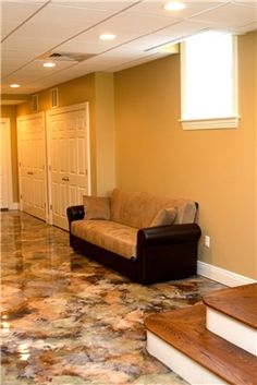 Looks like someone just laid a piece of granite down ~ Concrete Floors Custom Concrete Solutions, LLC West Hartford, CT – epoxy Acid Stained Concrete, Painted Concrete Floors, Cement Floors, Concrete Finishes, Barn Kitchen, Western Decor, Texas Western, Elegant Homes, Floor Design