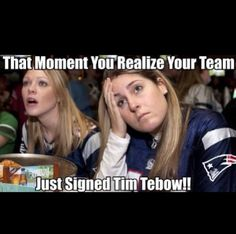 Ahhh finally dream come true!! Tebow will be tebowing with the patriots!!!