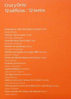 Cruz y Ortiz : 12 edificios, 12 textos = 12 buildings, 12 texts /[edición = edition, Jesús Ulargui].-- Madrid : Fundación ICO, D.L. 2016.
