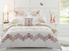 Inspired by traditional quilting and patchwork design #bedroom #bedbathntable