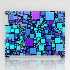 Post It Blue iPad Case - $60.00.  Worldwide shipping available at Society6.com. #ipadcase #ipadmini #blue #squares #contemporary #unique