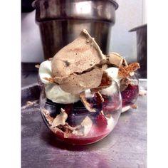 Chocolate Pavlova with Drunken Berries Chef Jason Roberts