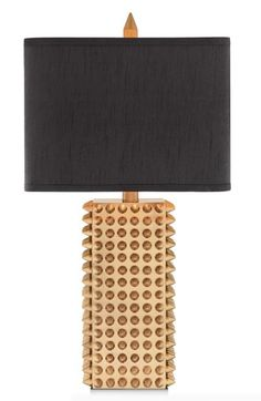 This Goldtone spiked square table lamp is just the right amount of punk-chic.