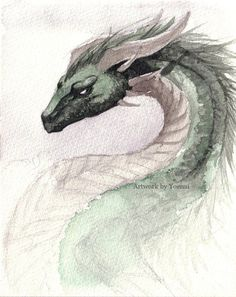 Image result for dragons irish mythology watercolour