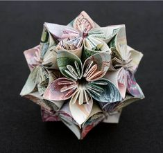 "Make ORIGAMI: A ""polyhedron"" – honeysuckle flower notes of 8 different countries"