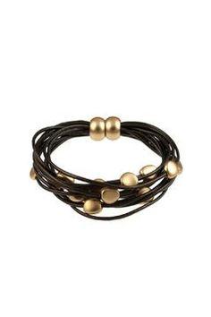 Fitbit Leather Bracelet : Shoptiques