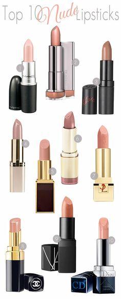 Top 10 Nude Lipsticks: wearable - #nudelips #lipstick #nudelipsticks #nude #lipsticktips #bestofnude #nudelippies - bellashoot.com