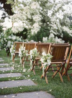 Natural lush wedding ceremony: http://www.stylemepretty.com/washington-weddings/seattle/2017/03/14/green-white-natural-wedding-inspiration/ Photography: Heather Payne - http://www.heatherpaynephotography.com/