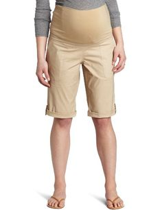Three Seasons Maternity Women's Stretch Cuffed Bermuda Short
