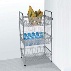 Shelf With Wire Baskets
