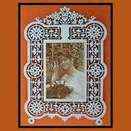 Lidia: Engraving photo on frame.