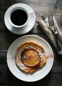 Apple pancakes and, coffee......