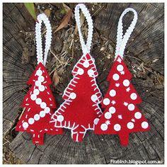 FitzBirch Crafts: Felt Christmas Trees