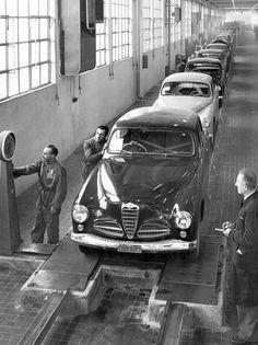 Alfa Romeo 1900 Berlina production