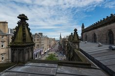 View from the roof of St. Giles' Cathedral.
