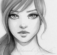 Artist Ilustration Drawing Painting Oils Digital Art Mixed Media Draw Art Class Instruction Sketchbook Artwork by Gabrielle Oil Paintings Sketches Pencil Cool Drawings, Drawing Sketches, Sketching, Drawing Ideas, Drawing Faces, Drawings Of Girls Faces, Shading Drawing, Mouth Drawing, Nose Drawing