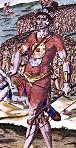 Floridian Native American Timucua Chief Indians Americans Civilization Sword