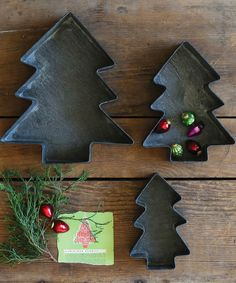 Look at this #zulilyfind! Metal Christmas Tree Tray Set by Creative Co-Op #zulilyfinds