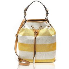 Tommy Hilfiger Canvas Stripe Bucket Bag