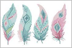BOGO FREE Feather cross stitch pattern Tribal Boho Modern Source by tajabeck Cross Stitch Bookmarks, Mini Cross Stitch, Cross Stitch Charts, Counted Cross Stitch Patterns, Cross Stitch Embroidery, Funny Embroidery, Tribal Patterns, Modern Cross Stitch Patterns, Loom Patterns