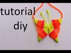 como hacer un collar de mariposa en macrame - YouTube