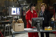 Pauley Perrette and Diane Neal in NCIS