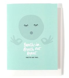 This card features a hand-painted illustration. • A2 size (5.5″ x 4.25″ when folded) • Blank inside • Printed full color on white cover paper • Paired with