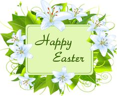 """Happy Easter with the message: """"Celebrate the resurrection of our lord"""" and a cross with white flowers. Description from imageslist.com. I searched for this on bing.com/images"""