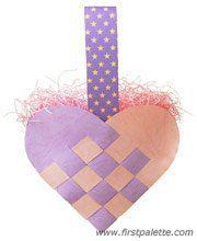 Step 16 Woven Heart Basket craft