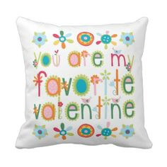 Favorite Valentine Kids Bloomgirls Throw Pillow #heart #love #valentine #kids #prettythrowpillows Click the pillow to see our full collection of Pretty throw pillows!