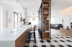 Mieszkanie we Wrocławiu - 28 Form Family Apartment, Apartment Design, Interior Exterior, Kitchen Interior, Tiny Apartments, Duplex, Kitchen Dinning, Dining, Modern Interior Design