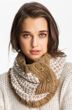 MICHAEL Michael Kors Three Button Neck Warmer available at #Nordstrom