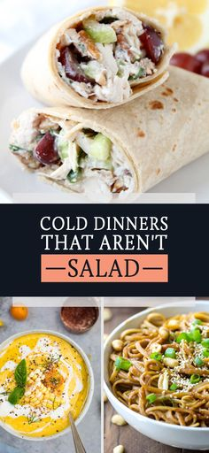 16 Cool And Refreshing Dinners That Aren't Salad Because hot food + hot weather is a bad combo. #dinnerideas