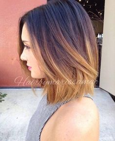 Short ombré hair
