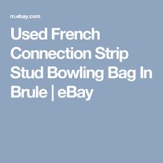 Used French Connection Strip Stud Bowling Bag In Brule   | eBay