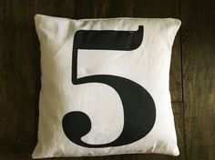 Number 5 pillow from www.c-curated.com