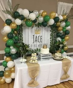 baby boy birthday party Baby Shower Ides For Boys Themes Jungle First Birthday Parties Ideas, Boys First Birthday Party Ideas, Jungle Theme Birthday, Wild One Birthday Party, Baby Boy First Birthday, Party Themes For Boys, Boy Birthday Parties, Balloon Birthday, Jungle Party, Safari Party