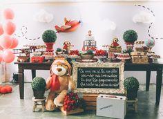 Tema para festa de aniversário: Urso aviador - Crescer | Temas