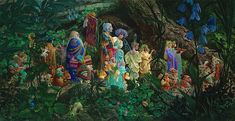 "James Christensen                                                                     ""The Royal Processional"", 2005."