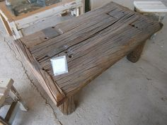 Railroad Tie Coffee Table Reclaimed Furniture One Of A Kind Pinterest Furniture Coffee