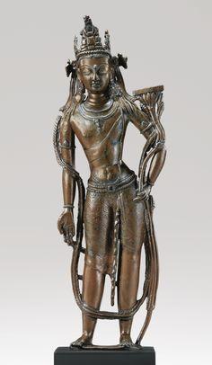 A Copper Alloy Figure Depicting Bodhisattva Manjushri Height: 18 in. (46 cm) West Tibet, circa 12th century