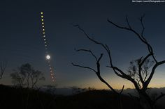 Total Solar Eclipse of November 14, 2012, as seen from a hilltop about 30 west of the Outback town of Mount Carbine, Queensland. Ben Cooper